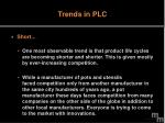 trends in plc
