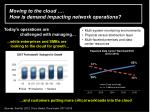 moving to the cloud how is demand impacting network operations