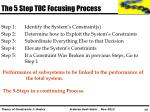 the 5 step toc focusing process