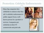 promotion celebrity endorsements