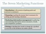 the seven marketing functions