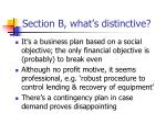 section b what s distinctive