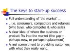 the keys to start up success