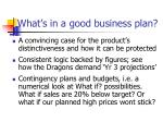 what s in a good business plan