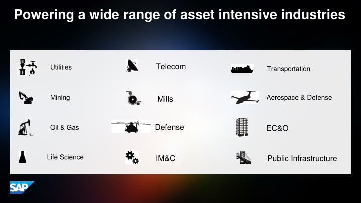 Powering a wide range of asset intensive industries