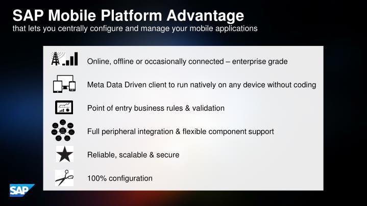 SAP Mobile Platform Advantage
