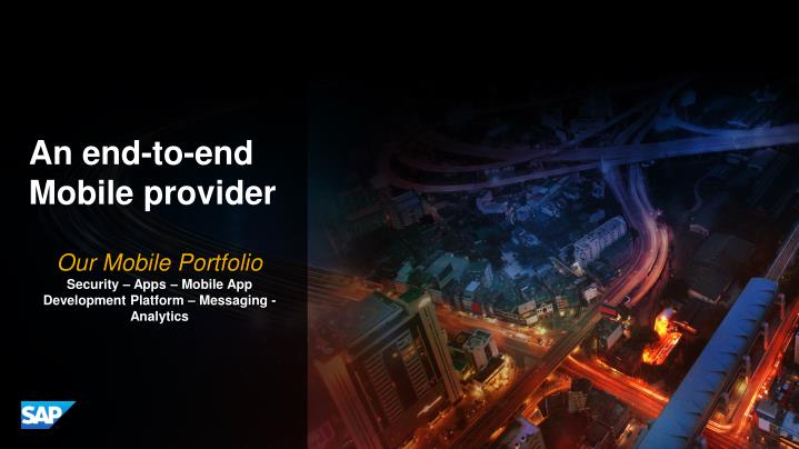 An end-to-end Mobile provider