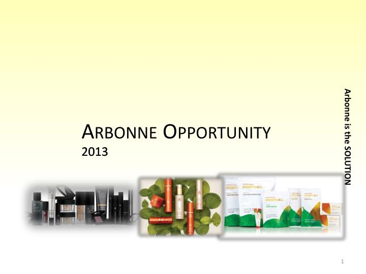 arbonne opportunity n.