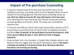 impact of pre purchase counseling