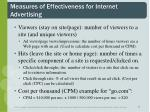 measures of effectiveness for internet advertising