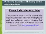 purchasing keywords and selecting content oriented websites