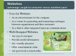 websites advantage sought by consumer versus stumbled upon