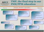 tmp the final step in our psm ppm education