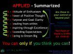 applied summarized