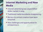 internet marketing and new media