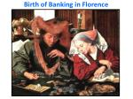 birth of banking in florence