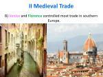 ii medieval trade