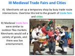 iii medieval trade fairs and cities