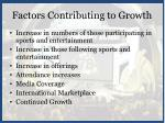 factors contributing to growth