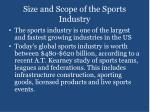 size and scope of the sports industry