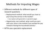methods for imputing wages
