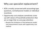 why use specialist replacement