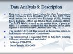 data analysis description