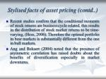stylised facts of asset pricing contd