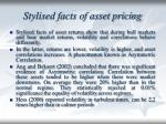 stylised facts of asset pricing