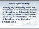 what is regime switching