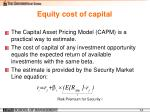 e quity c ost of capital