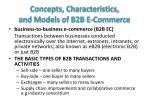 concepts characteristics and models of b2b e commerce