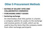 other e procurement methods2