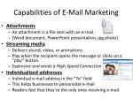 capabilities of e mail marketing1