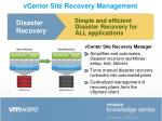 vcenter site recovery management