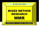 mixed method research mmr1