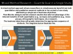 mixed method research quant qual in a single study