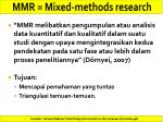 mmr mixed methods research1