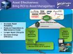 asset effectiveness bring roi to asset management