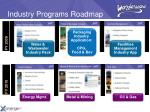 industry programs roadmap