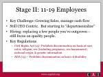stage ii 11 19 employees