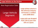 large vehicles on the decline