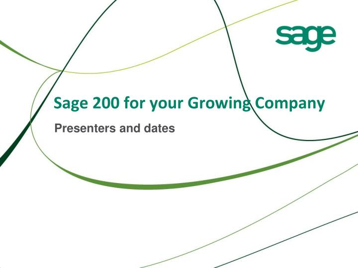 sage 200 for your growing company n.