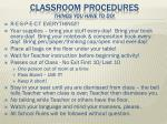 classroom procedures things you have to do