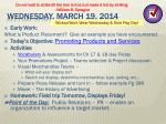 wednesday march 19 2014
