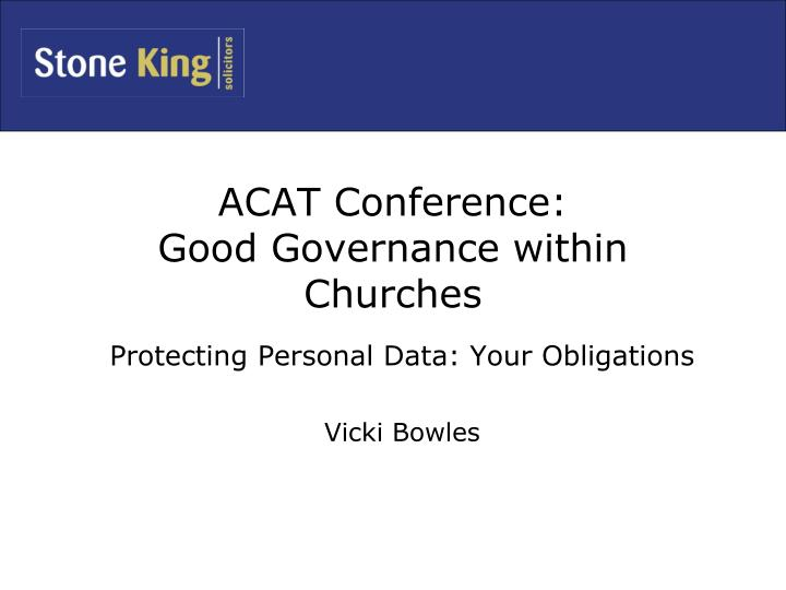 acat conference good governance within churches n.