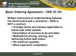 basic ordering agreement far 16 703