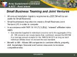 small business teaming and joint ventures