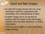 good and bad images