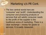 marketing v s pr cont